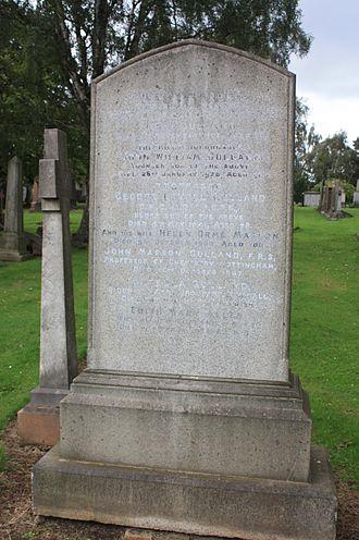 John Gulland - The grave of John Gulland, Grange Cemetery, Edinburgh