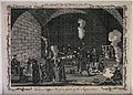 The inside of a jail of the Inquisition, with a priest super Wellcome V0041651.jpg