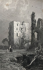 The keep of Ragland Castle, Monmouthshire