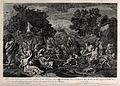 The people of Moses receive manna from heaven in the wildern Wellcome V0034270.jpg