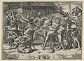 The procession of Silenus who is carried on an ass preceeded by a bacchant playing the cymbals and other figures MET DP854837.jpg