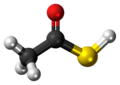 Ball-and-stick model of the thioacetic acid molecule