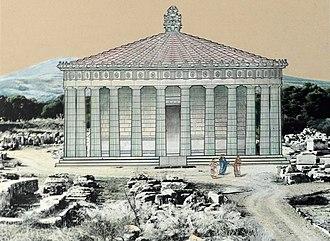 Tholos (architecture) - Reconstitution of the Tholos of Epidauros.