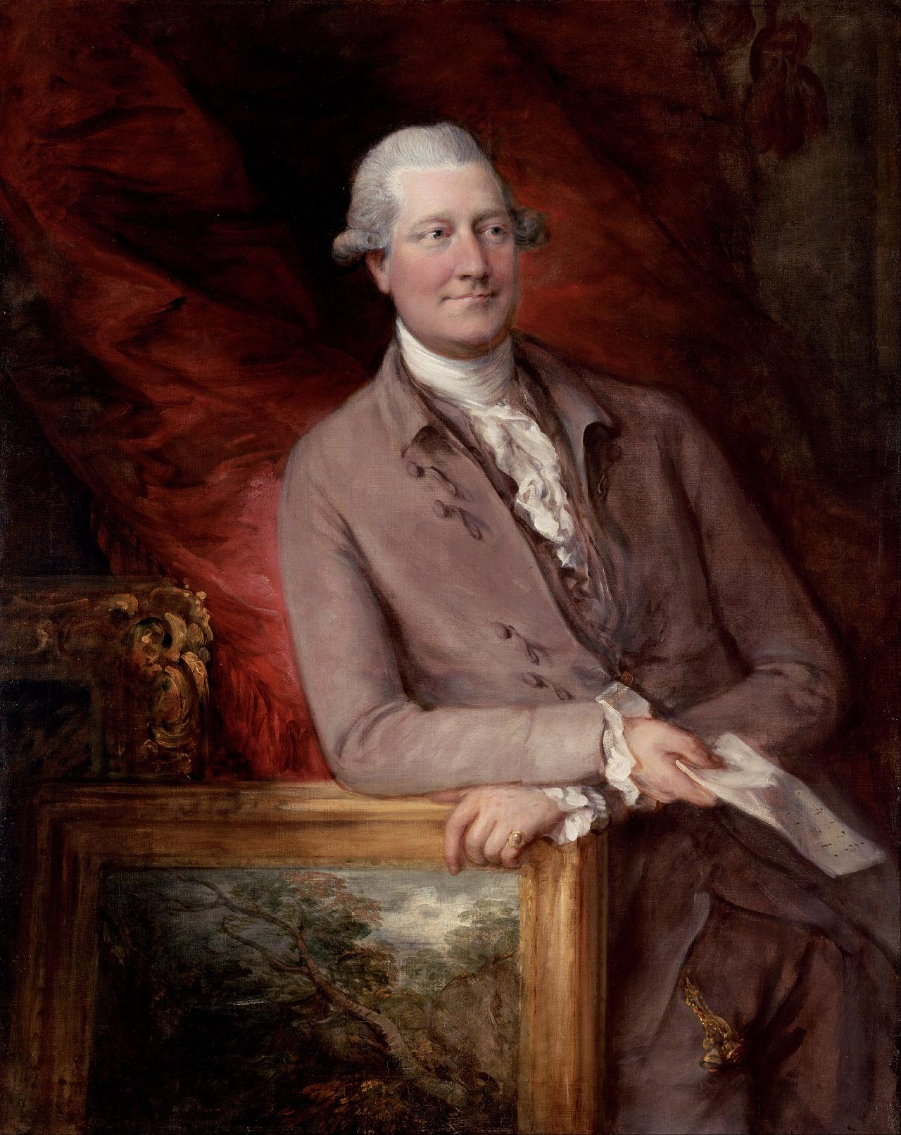 Portrait of James Christie painted by Thomas Gainsborough