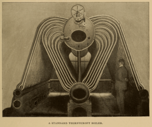 John Isaac Thornycroft - Photo of a Thornycroft watertube boiler, from Cassier's Magazine 1896.
