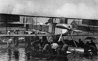 Tabora Offensive - Thowing a hydroplane afloat near the lake.