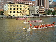 Three Dragon Boats in Last Race of the Day
