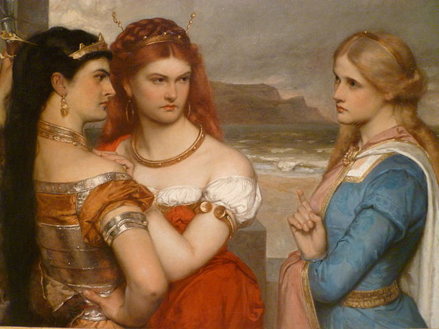 Three Daughters of King Lear by Gustav Pope, c. 1875. (Wikimedia Commons)