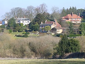 Thursley - Larger houses in Thursley are where the Greensand Ridge commences