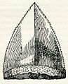 """Tongue-shaped mineral which Piny named """"glossopetra"""", meaning tongue-stone in Greek - Thevet André - 1556.jpg"""