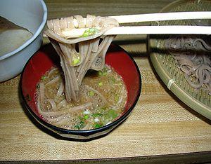 Chinese yam - Tororo blackbean udon from Tamba (丹波の黒豆とろろうどん)