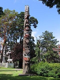 Haida Totem Pole Thunderbird Park British Columbia