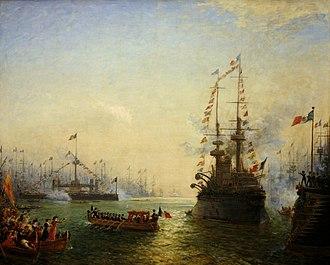 Félix Ziem - Image: Toulon visit Loubet to french italian squadrons