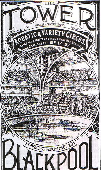 Blackpool Tower - Blackpool Tower's first circus programme