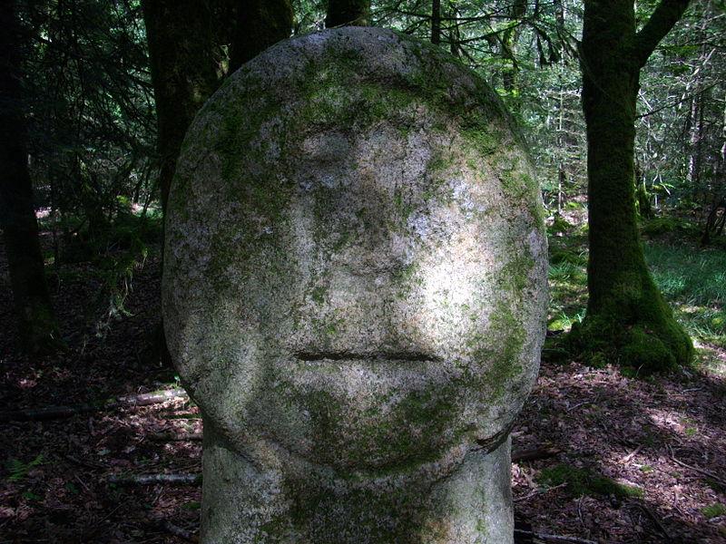 "Menhir known as Babouin (""Baboon""), Trédion (Morbihan, France)"
