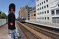 Train approaching Civic Station - panoramio.jpg