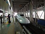 Train of Sanyo Shinkansen Stopping at Hakata Station.jpg