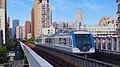 Train of Wuhan Metro Line 1 leaving Xunlimen station for Dazhi Road station.jpg