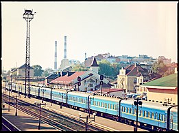 Train station (Ivano-Frankivsk) trains.jpg