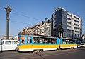 Tram in Sofia near Sofia statue 2012 PD 052.jpg