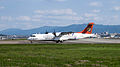 Transasia Airways ATR 72-212A B-22807 Departing from Taipei Songshan Airport 20150103b.jpg