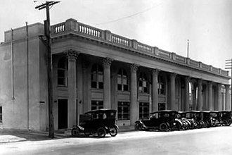 Sony Pictures Studios - Photograph of original colonnade of Triangle Studios. c. 1916