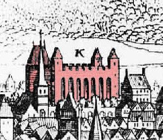 Aula Palatina - Basilika (Engraving of 1648, presumably showing an older view of  1548/50)