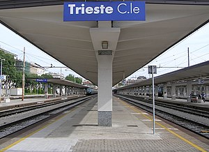 Trieste Centrale railway station - View of the station yard.