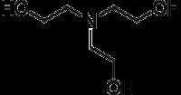 Strukturformel von Triethanolamin