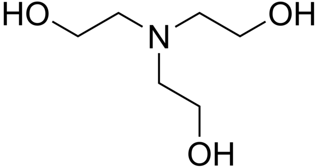 Chemical structure of triethanolamine