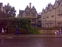 Trinity College from Broad Street adjacent Blackwells.jpg