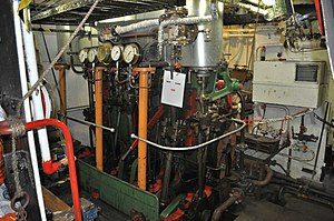 Lydia Eva (steam drifter) -  The steam engine