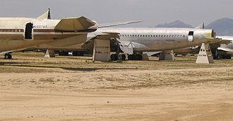 309th Aerospace Maintenance and Regeneration Group - Boeing 707s being used for salvage parts for the C-135 airframe at AMARG.