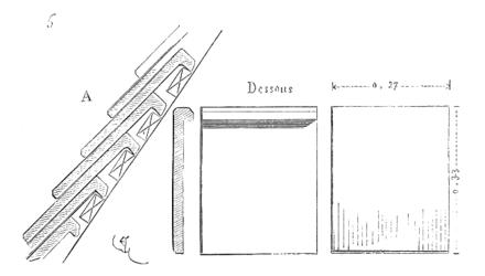 Dictionnaire raisonn de l architecture fran aise du xie au xvie si cle tuile - Pose tuiles plates anciennes ...