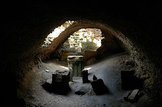 Religion in Carthage - Stelae in the Tophet of Salammbó covered by a vault built in the Roman period
