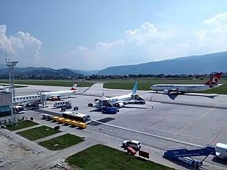 Sarajevo International Airport - Turkish Airlines A330 at Sarajevo Airport