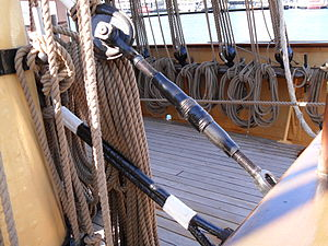 Turnbuckle - ''James Craig'', main topmast fore stay bottlescrew