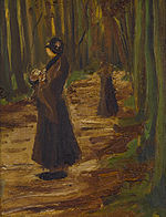 Two women in a wood - VINCENT VAN GOGH (1853-1890) 12 1-4 x 9 7-16in. (31 x 24cm).jpg
