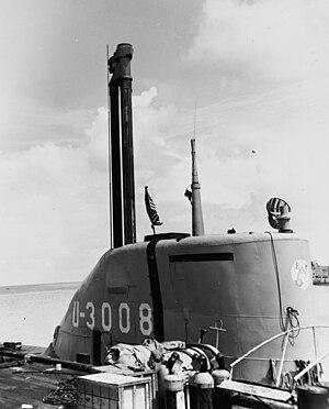 Submarine snorkel - Image: U 3008 Key West