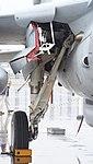 U.S. Marine Corps EA-6B Prowler(163046) of VMAQ-2 right main landing gear right front view at MCAS Iwakuni May 3, 2015 02.jpg