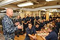 U.S. Navy Vice Adm. Scott H. Swift, left, the commander of the U.S. 7th Fleet, speaks with Sailors aboard the guided missile destroyer USS Chung-Hoon (DDG 93) in the South China Sea May 29, 2013 130529-N-GR655-019.jpg