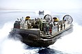 U.S. Navy landing craft, air cushions attached to Assault Craft Unit 4 conduct operations while assigned to the amphibious transport dock ship USS San Antonio (LPD 17) in the Gulf of Aqaba June 6, 2013 130607-N-GZ984-014.jpg