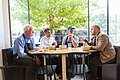 U.S. Secretary of Labor Thomas E. Perez and Rep. George Miller eat lunch with Sweetgreen co-founders.jpg