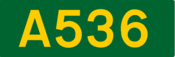 A536 road shield