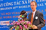 USAID Mission Director Joakim Parker speaks at the Social Work Day event in Hanoi (8168690637).jpg