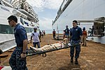 USNS Mercy crew transfers surgery patients ashore during Pacific Partnership 2015 150823-F-YW474-082.jpg