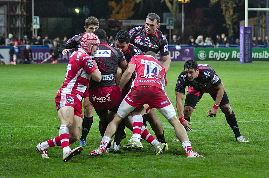 USO-Gloucester Rugby - 20141025 - Action de jeu