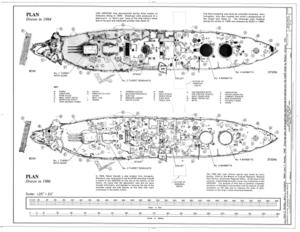 USS Arizona, Submerged off Ford Island, Pearl Harbor, Honolulu, Honolulu County, HI HAER HI,2-HONLU,31- (sheet 3 of 4).png