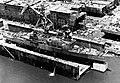 USS Arthur W. Radford (DD-968) fitting out in a floating dry dock at Ingalls Shipbuilding on 24 June 1976.jpg
