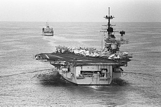USS Independence (CV-62) - Independence operating off Lebanon in 1982.